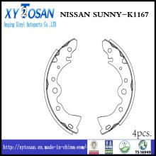 Auto sapato de freio para Nissan Sunny K1167