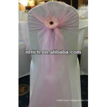 Decorative crystal organza tie backs for chair covers