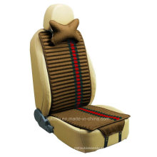 Car Seat Cushion Flat Shape Double Sides Use with Flax and Velvet-Brown
