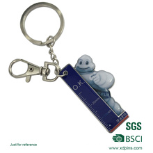 New Design Cartoon Keychain with Ruler Logo Printed