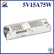 5V 15A 75W Slim Power Supply na ekran LED