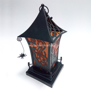 Hallowmas Black Home Sharp Hurricane Lantern