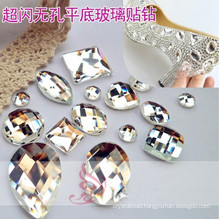 Clear Flat Back Glass Diamonds Beads Stones