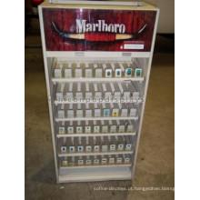 Comércio comercial de cigarros Retail Unique Wood and Acrylic Floorstanding Tobacco Display Stand