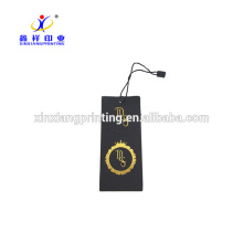 Brand Jean Clothing Black Paper Hang Tag with Custom Design