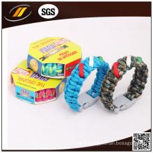 Customized Brand Logo Paracord 550 Survival Bracelet (HJ6050)