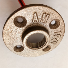 malleable iron pipe fitting-brass color pipe floor flange