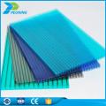 Paneles de láminas de plástico de policarbonato recubiertos de poliéster uv