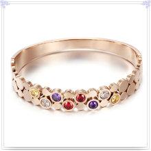 Joyería cristalina joyería brazalete de acero inoxidable (br573)