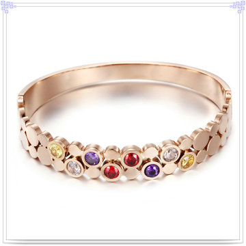 Crystal Jewelry Fashion Jewelry Stainless Steel Bangle (BR573)