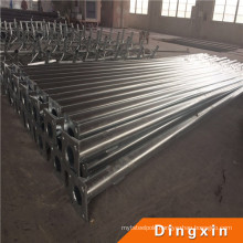 5m Hot Deep Galvanized Metal Pole with ISO CE