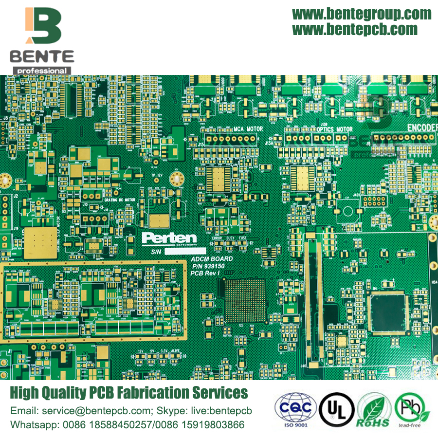 BGA 6 Layers PCB FR4 High-precision Multilayer PCB ENIG 3u""