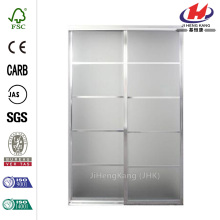 Bright Clear Mystique Glass Aluminum  Door