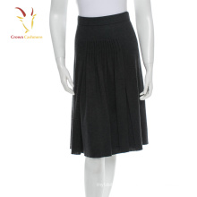 Mesdames noir chaud jupe d'hiver laine jupe en tricot