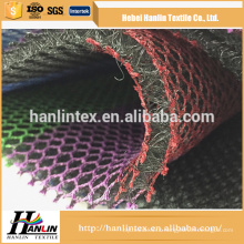 knitted technic polyester mesh fabric / silver metallic mesh fabric