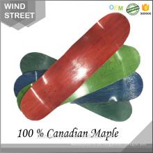 2017 La cubierta caliente del monopatín del arce canadiense del blanco 100% de la venta completa