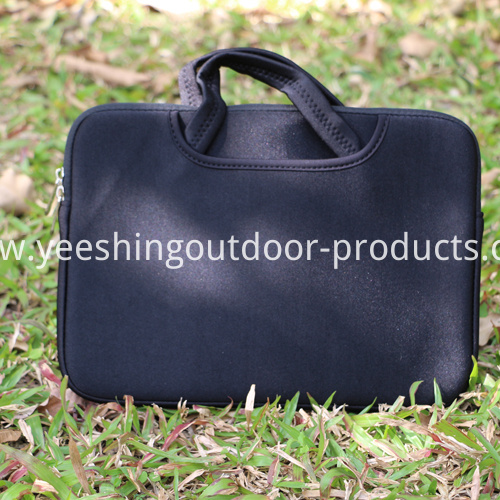 Pure Black Laptop Bag
