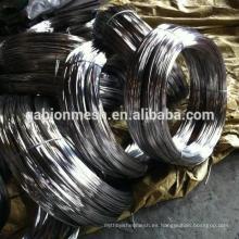 Función de alambre de encuadernación y tratamiento de superficie negro alambre de hierro recocido negro