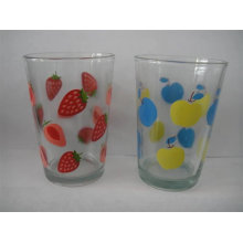 8 Oz Printed Glasses, Printed Glass Cup, vaso de vidrio impreso