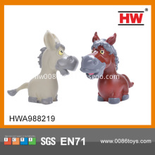5Inch rubber horse toy With BB Whistle