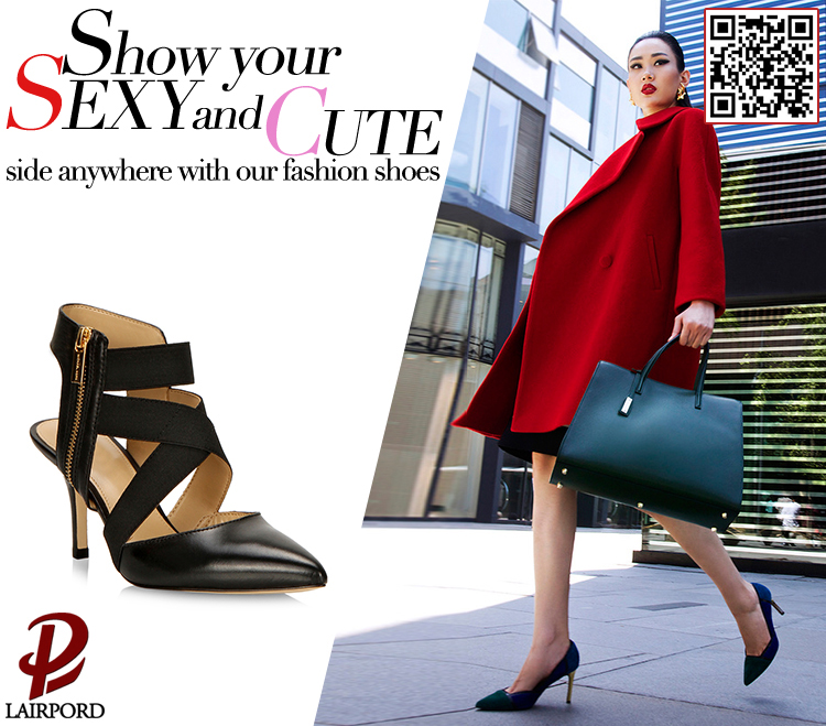 genuine leather and suede stiletto heel shoes