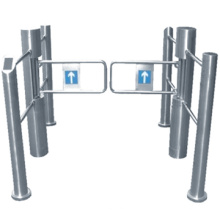 Alta calidad swing gate/supermercado swing mecánico puerta acero inoxidable puerta