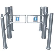 Haute qualité swing porte/supermarché oscillation mécanique porte/acier inoxydable Portillon pivotant