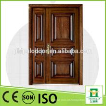 Puerta principal blindada de madera de acero para casa propia con CE.