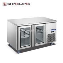 FURNOTEL Equipamento de refrigeração Congelador industrial 2 Vidro embaixo de geladeira FRUC-7-1