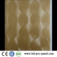 Painel de parede de PVC laminado plano 25 cm Teto de PVC de 7,5 mm