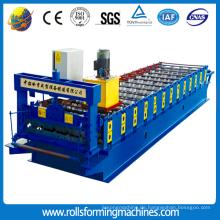 Galvanisierte Aluminiummetalldachziegel-Rolle, die Maschine bildet