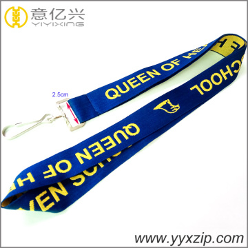 single layer bordir desainer murah jacquard lanyard