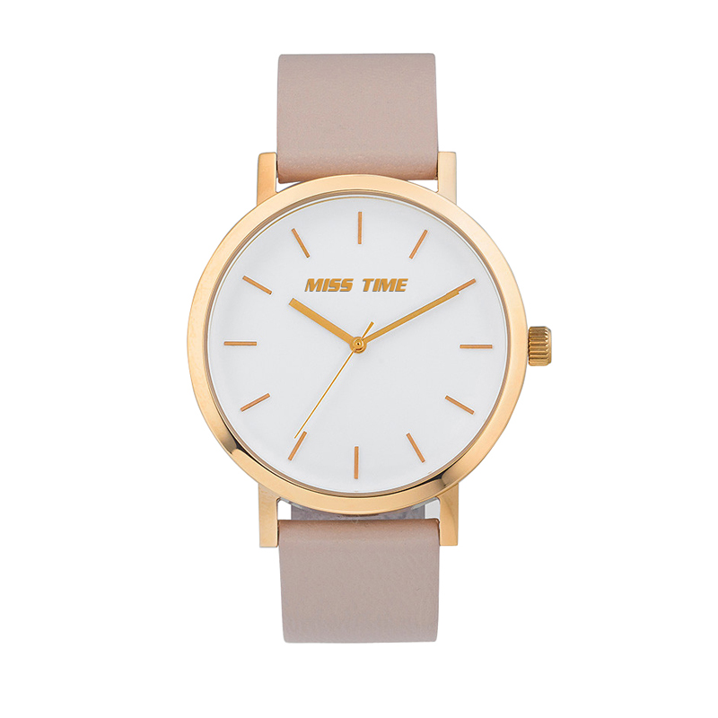 elegance brand leather band ladies watch