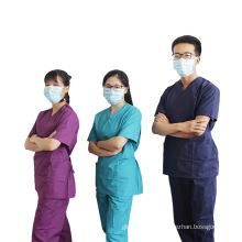 Projetos elegantes de algodão uniforme para enfermeiras