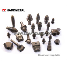 Bits de corte de estrada de carboneto de tungstênio