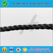 3 hilos de 5mm de color negro pp cuerda reciclada