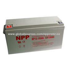 12V150AH solar battery, long service life good charge discharge performance