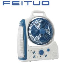 Ventilador, ventilador recargable, luz de emergencia, LED ventilador