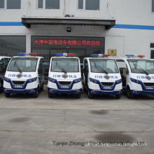 High Quality Mini 2 People Electric Closed Style Street Laminated Glass Police Patrol Car with Ce