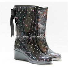 Updated Fashion High Heels Women Rain Rubber Boots