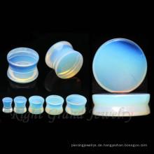 Maßgeschneiderte Design Stein Ohr Gauges Großhandel natürliche organische Opal Stein Plugs