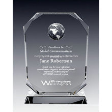 Crystal Oxford Globe Plaque Auszeichnung (NU-CW819)