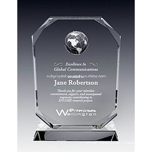 Crystal Oxford Globe Plaque Award (NU-CW819)