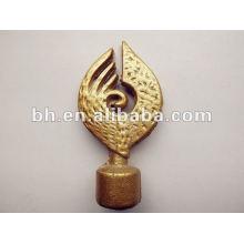 Rideau de fer en or royal finial, barre de coupe, moteur électrique