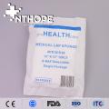 esponja abdominal tecida não estéril da gaze com laço azul