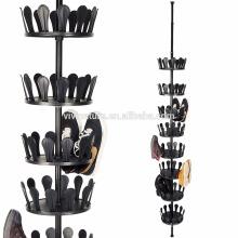 Porte-chaussures pivotant avec support de rangement rotatif