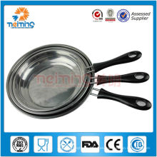 Sartén de acero inoxidable 3 piezas para cocina de inducción