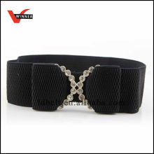 Elegant Black womens wide elastic belt