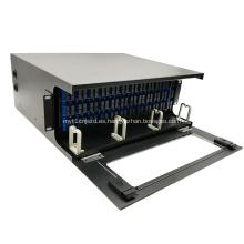 144 Fibras 4U Marco de distribución óptica montado en rack ODF de alta densidad