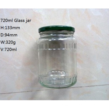 720ml glass jar for pickled cucumber